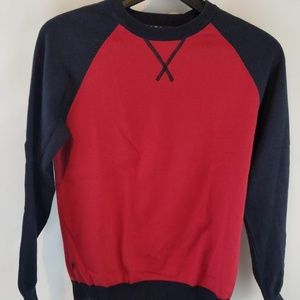 Brooks Brothers kids long sleeve red blue sweater